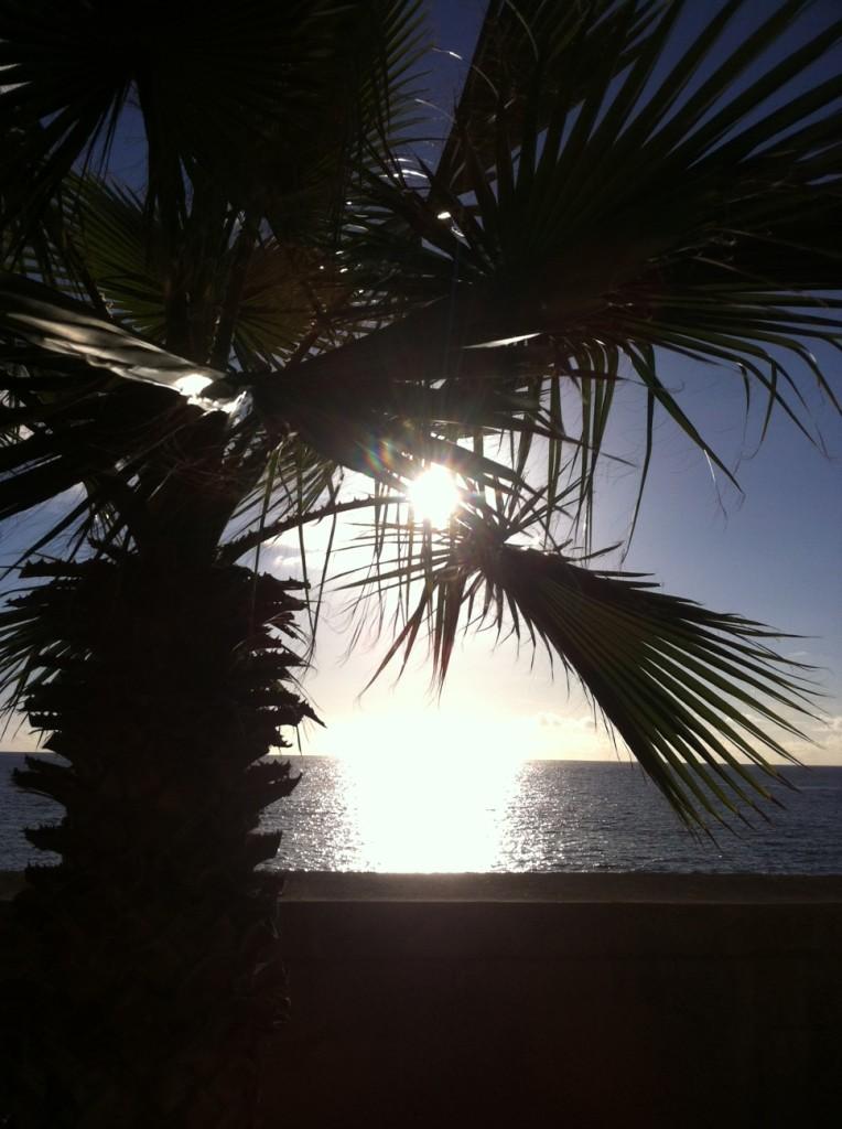 Reflexos do pôr do sol